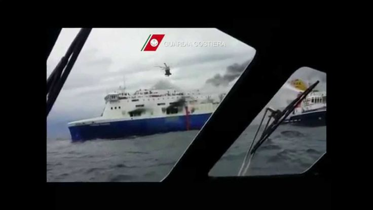 Norman Atlantic Video Rallentato - Traghetto in Fiamme - Soccorsi