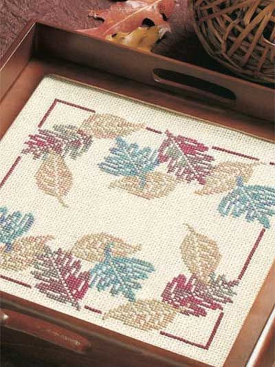Enhance your stitch repertoire by using overdyed floss to stitch Autumn's glory. Stitch Count: 95 wide x 94 high.  Skill Level: Average