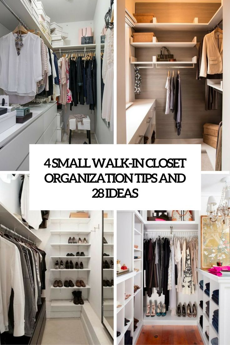 21 Small Walk-In Closet Organization Tips And 21 Ideas (DigsDigs