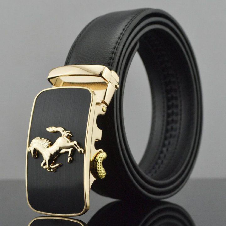 2016 hombres de cuero genuino cinturones nuevo estilo de la hebilla 70 - 130 cm cinturones para hombre
