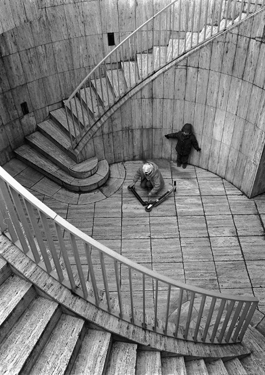 Boys, Scooter and Stairs (from the Paris Cycle) 2011 stanko Abadzic
