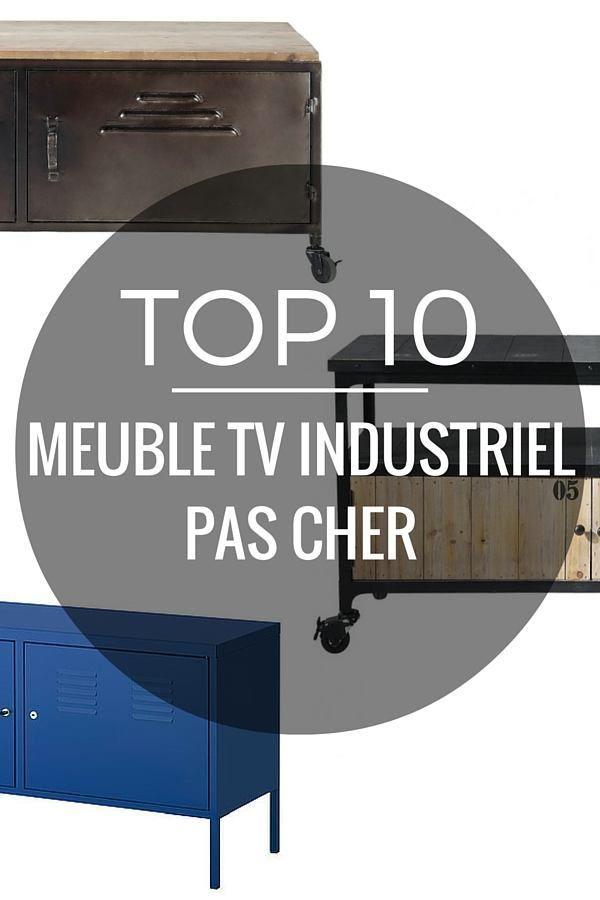 17 meilleures id es propos de meuble tv pas cher sur - Meubles industriel pas cher ...