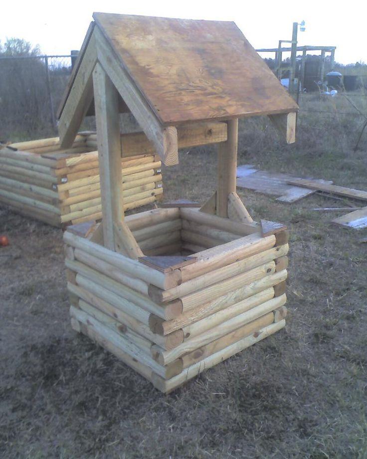 Landscape Timber Wishing Wells