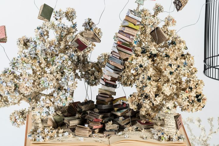 Rebecca Rego, 'The Secret Life of Books', 2015, second-hand books and found objects, sculpture category [Holsworthy High School] - ArtExpress 2016, HSC artworks of 2015 @ Art Gallery of NSW, Sydney, Australia