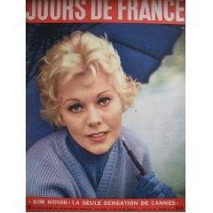 Jours de France (n°79) du 19/05 au 26/05/1956 - Kim Novak (couv.) - Cannes - L'Algérie - Roger Duchet - René Coty - Prince Moulay Hassan - Maréchal Tito - Henry Laforest - Mont Sinaï -... [Magazine]