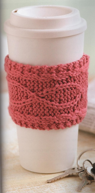 Ravelry: Knitting For A Cure Mug Cozy pattern by Kay Meadors