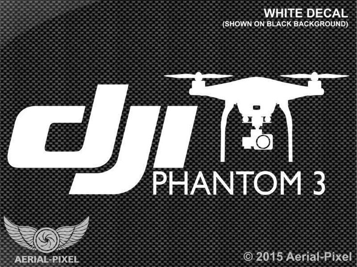 Dji Phantom 3 Window / Case Decal Sticker Quadcopter Drone Not Vision Or Inspire