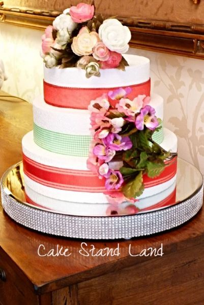 SPARKLE LARGE Wedding Cake Stand 40 CM 16 Inches