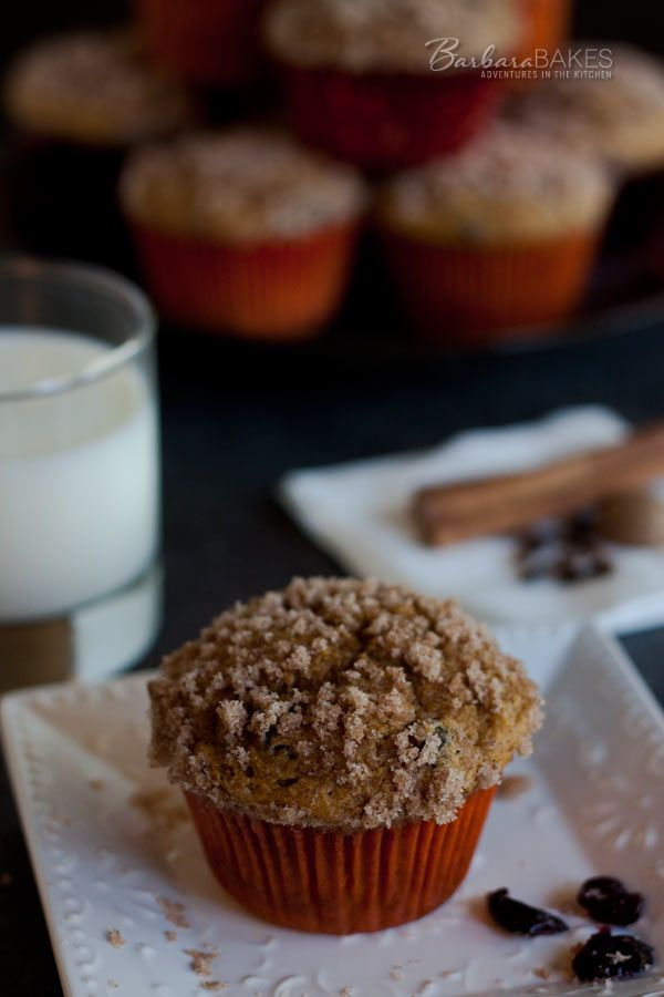 ... dried cranberries and crowned with a sweet cinnamon streusel topping