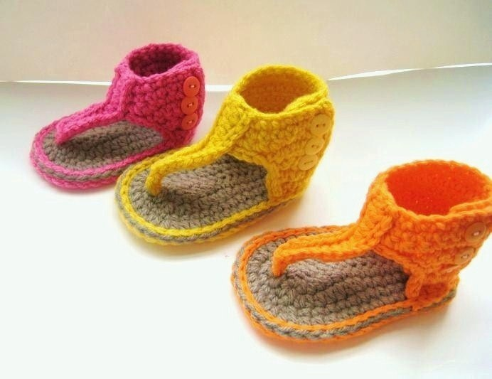 Crochet Pattern for Baby Sandals or Booties  - Pdf Pattern - Gladiator Sandals - A Crochet Pattern. $4.99, via Etsy.