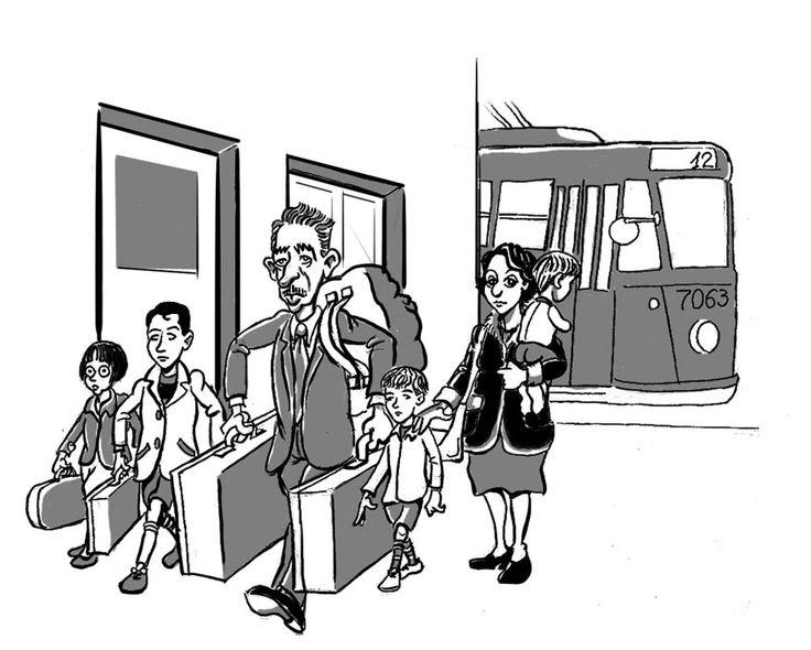 la mia famiglia arriva a roma
