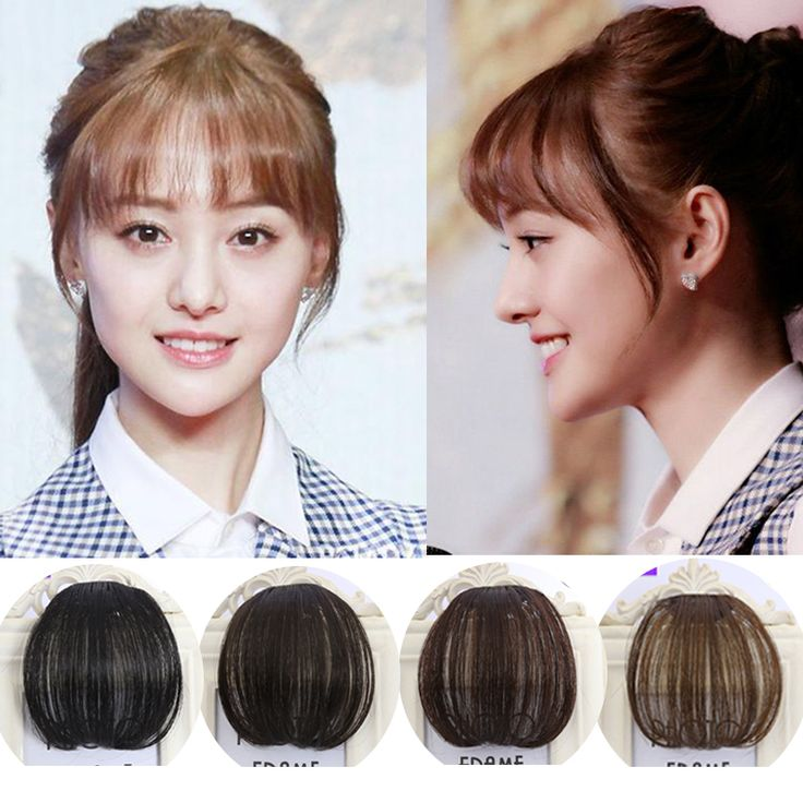 Mode 1 Clip in Pony vrouwen Haarverlenging Haarstukjes Voor Neat Fringe Hair Extensions Onzichtbare Valse Haar Pony Haarstukje