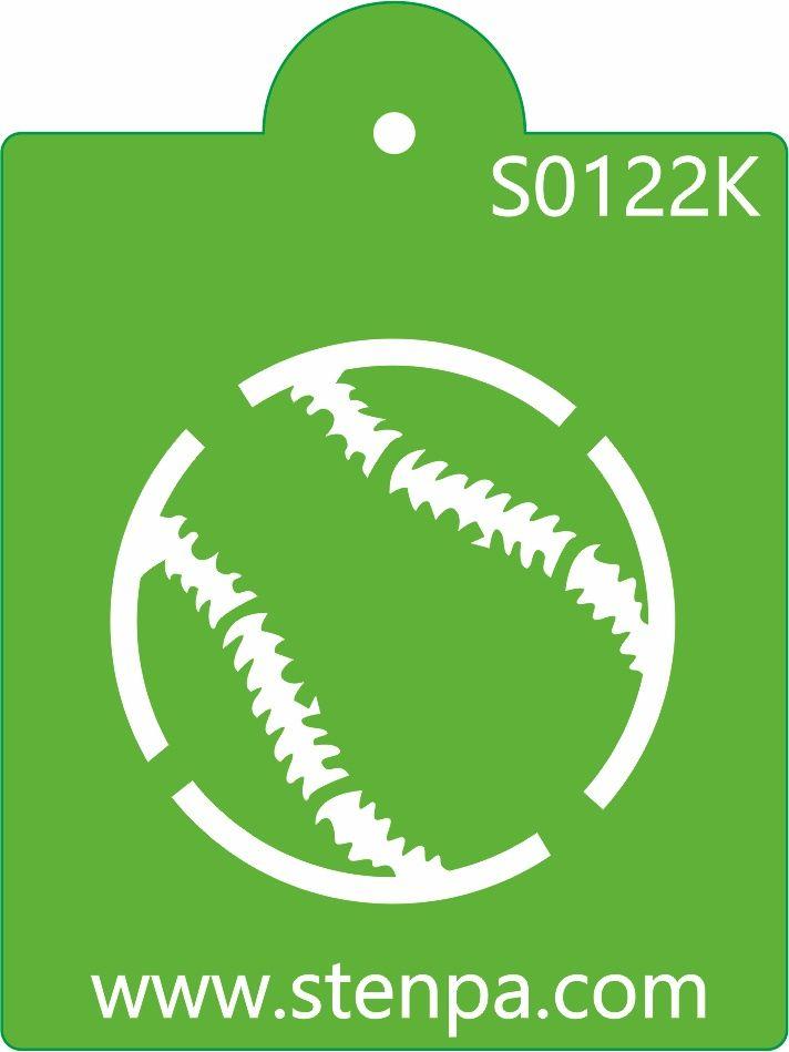 Beyzbol Topu isimli pasta stencilimizi stenpa.com sitemizden temin edebilirsiniz.