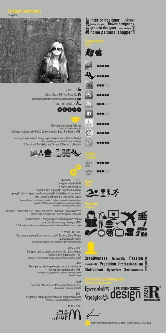 21 best Cool Resumes & CVs images on Pinterest | Resume design ...