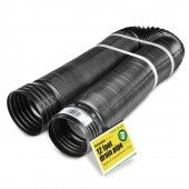FLEX-Drain 50910 12' Perforated French Drain Landscape Drain Pipe