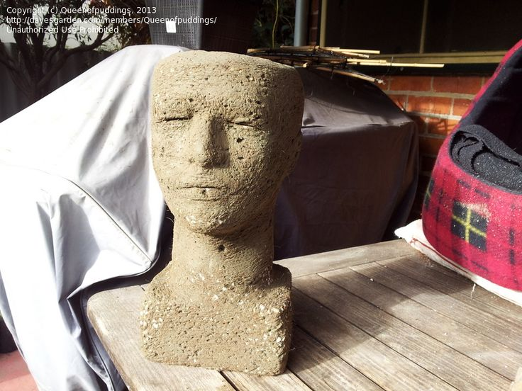 Hypertufa head planter, some instructions for mold