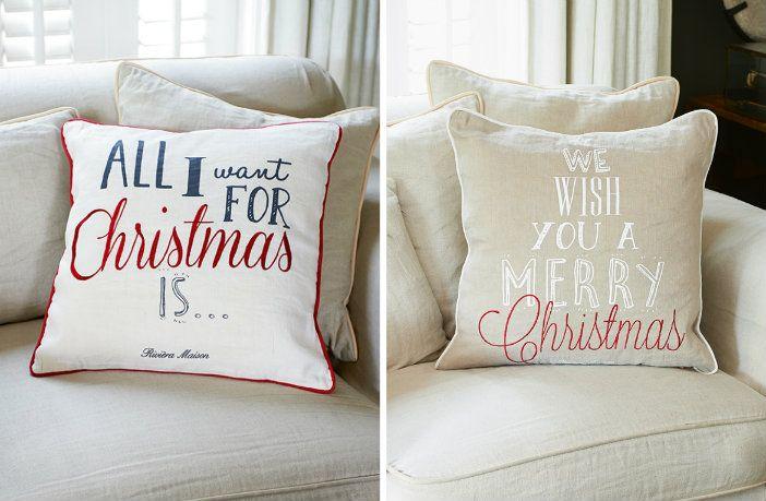 collage kerst kussens riviera maison 2015