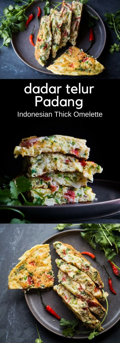 Indonesian Thick Omelette (Telur Dadar Padang). Easy one-pan thick omelette perfect for easy weeknight dinner