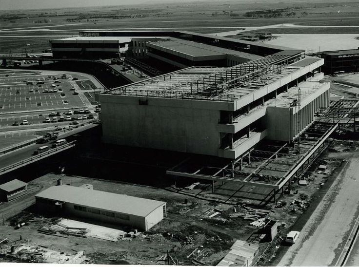 Construction of Melbourne Airport, late 1960's.