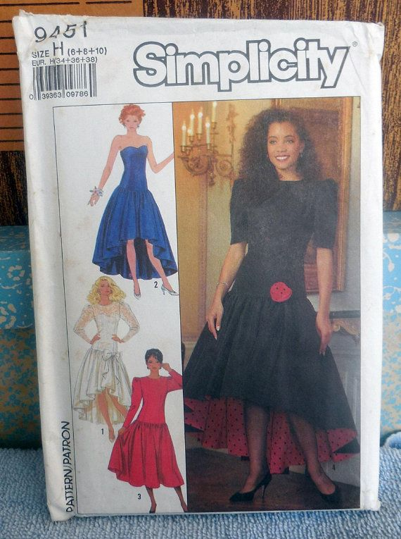 23e089ab43 Simplicity 9451 - Totally 80s Special Occasion Dress - Gown