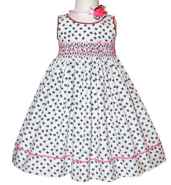 Girls summer smocked dress.  This beautiful dress by CarouselWear