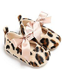 Babyschuhe, Switchali Baby Girls Cute Leopard Print Krippe Schuhe Schmetterling Knoten Soft Sole Schuhe