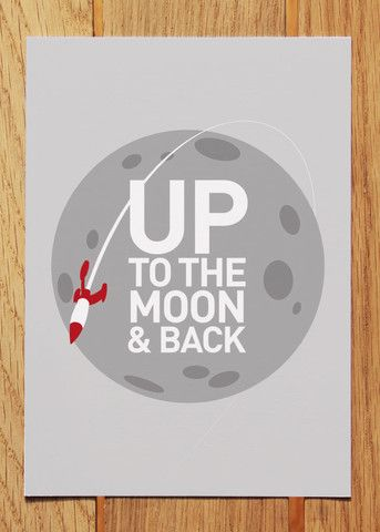 New Up to the Moon & Back Postcard from Showler and Showler