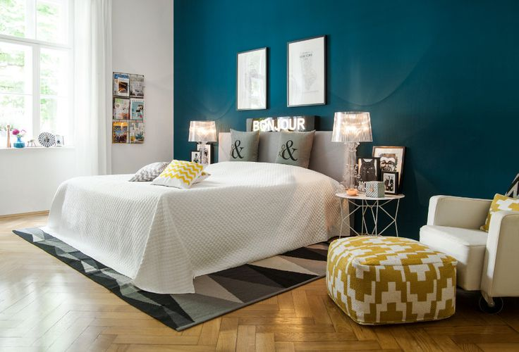 Les 25 meilleures id es concernant chambre bleu canard sur pinterest peinture bleu canard - Mur bleu petrole ...