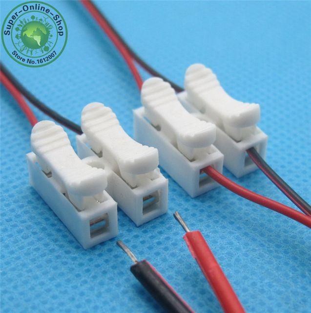 10x2 P Весна Разъем провода, не сварка без винтов Быстро разъем кабельный зажим Клеммный Блок 2 Way Легко Подходит для led газа