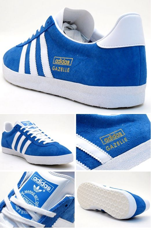 adidas Originals Gazelle OG: Blue/White Just got these today ??