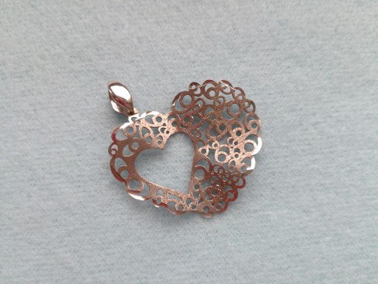 Srebrny wisior w kształcie serca - Lady-Kate23 - Wisiorki