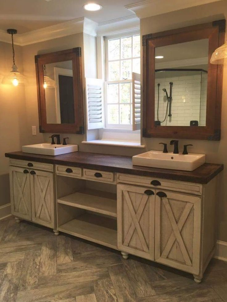 Best 25 country bathrooms ideas on pinterest country for Bathroom double vanity designs