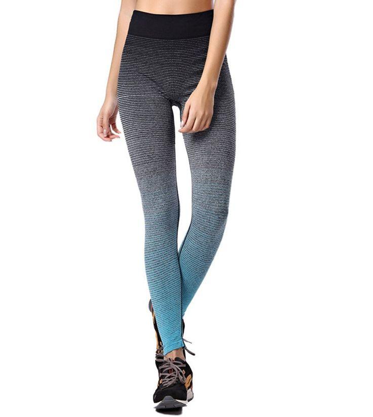 qutool Damen Sport Hose Yoga Leggings Strumpfhosen Workout Hose Running Hose Medium Blau - blau: Amazon.de: Sport & Freizeit