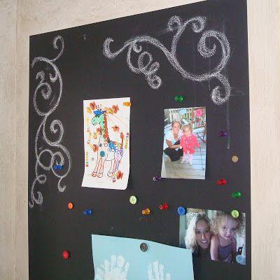 Magnetic Chalkboard Wall & Growth Chart 3 via lilblueboo.com