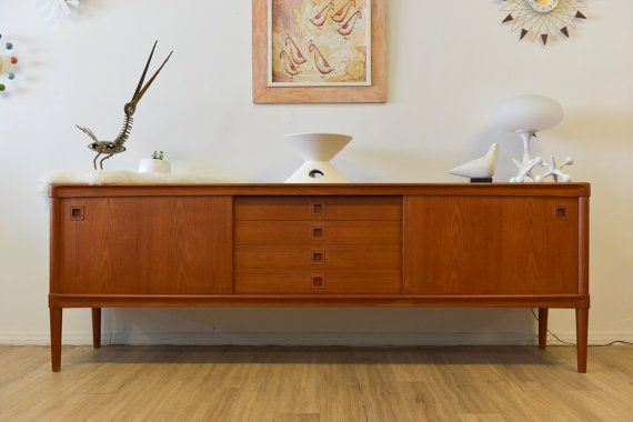 Danish Modern Teak Credenza by HW Klein for Bramin