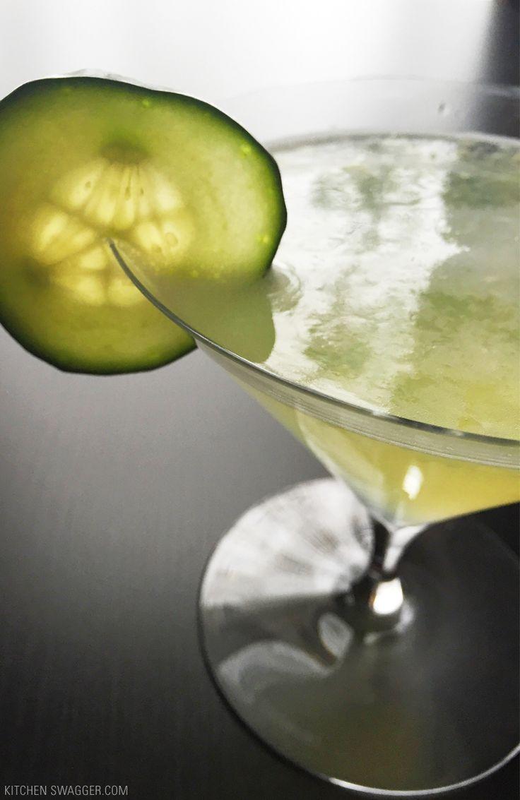 A delicious cucumber martini recipe with Hendrick's Gin, Saint Germain Liqueur and fresh lemon juice.