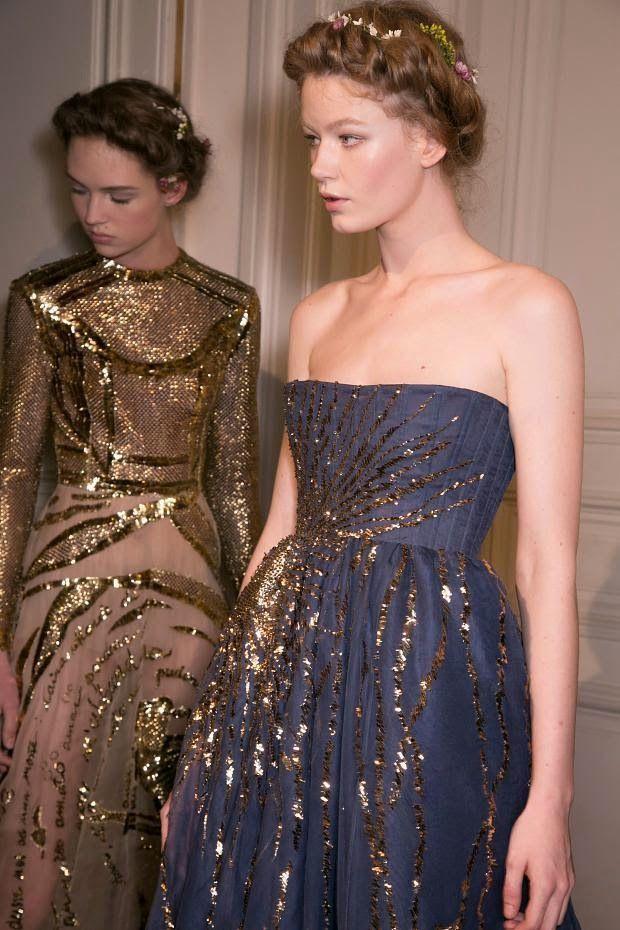 #HollieMaySaker & #AdrienneJuliger #backstage @ Valentino Spring 2015 Couture, Paris.