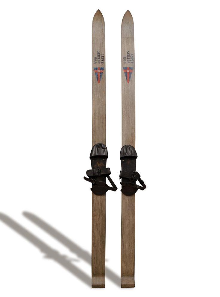 Esquí VINTAGE de Bambó Blau, de 8x6x170 cm.