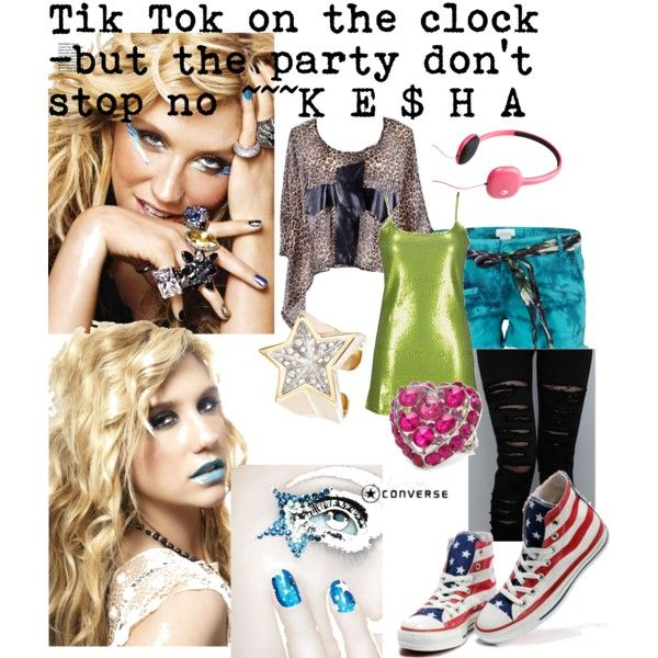 Kesha - Tik Tok, created by kiki11walker on Polyvore