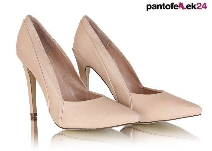 Beżowe szpilki / Beige heels / 39,90 PLN #heels #beige #shoes #szpilki #buty