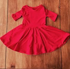 DIY Tutorial: Toddler Twirly Dress. Great tutorial for knit toddler dress.