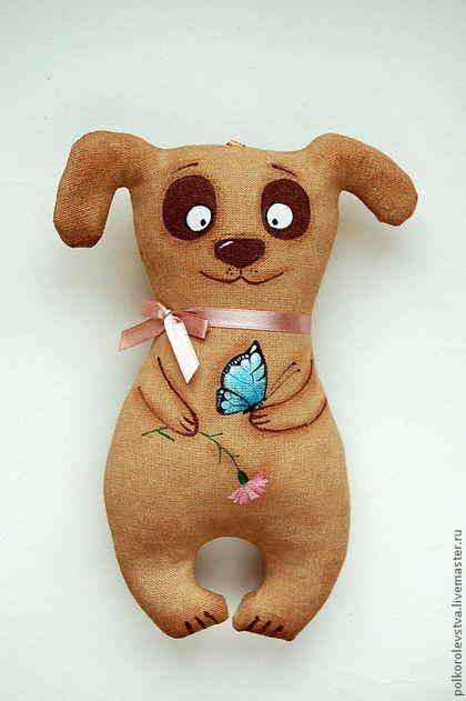 Ароматизированные куклы ручной работы. Ярмарка Мастеров - ручная работа Собачка с бабочкой (корица). Handmade.
