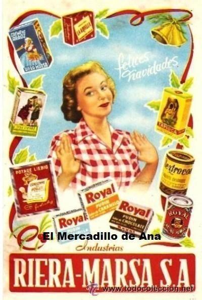 PUBLICIDAD DE INDUSTRIAS RIERA MARSÁ ANUNCIO CARTEL PEQUEÑO