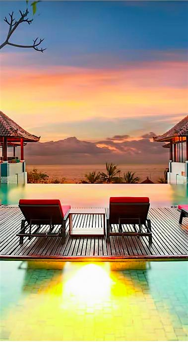 Neon Ice Cream Sunset.  Beyond Villas Bali has a selection of beautiful villas, all over Bali, to suit every style & Budget. www.beyondvillas.com