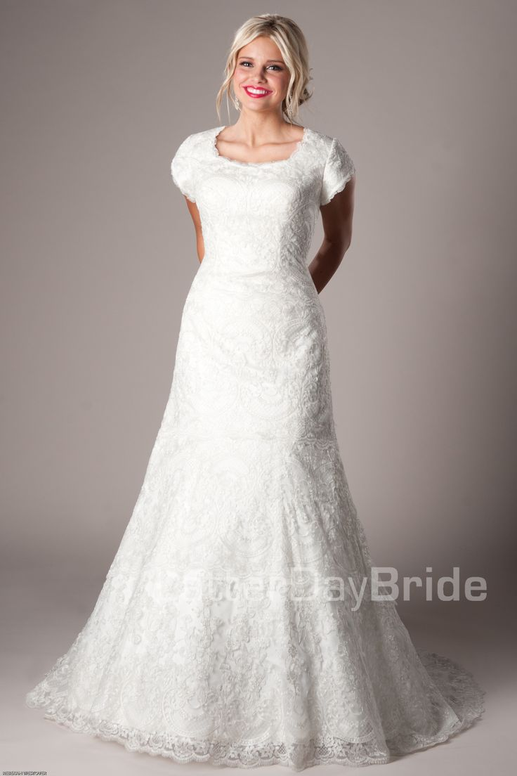 1000 images about modest wedding dresses on pinterest for Mormon modest wedding dresses