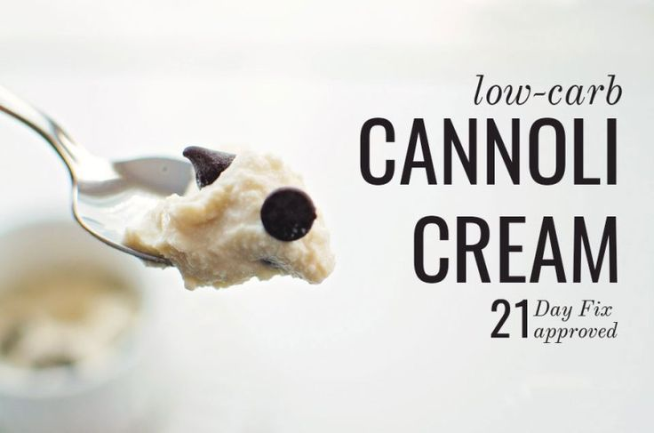 Low Carb South Beach 21 Day Fix Dessert Ricotta Cannoli