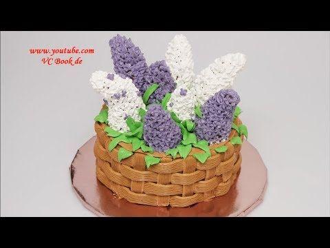 Korb mit Flieder - 3D Torte | Motivtorte | Basket with lilac Cake - YouTube