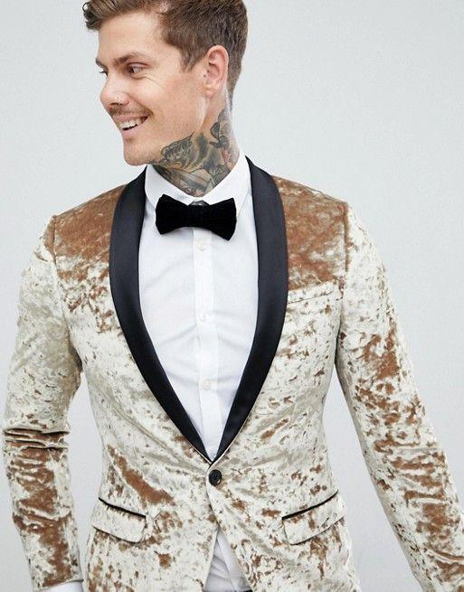 01d4eecf284289 Twisted Tailor – Sehr eng geschnittene Smokingjacke aus Knittersamt ...