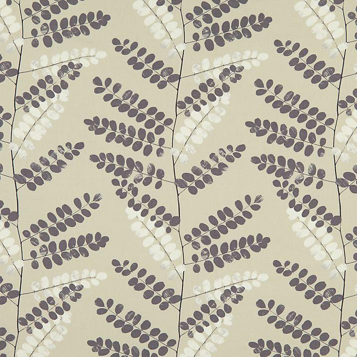 Buy John Lewis Malin Curtain, Steel | John Lewis