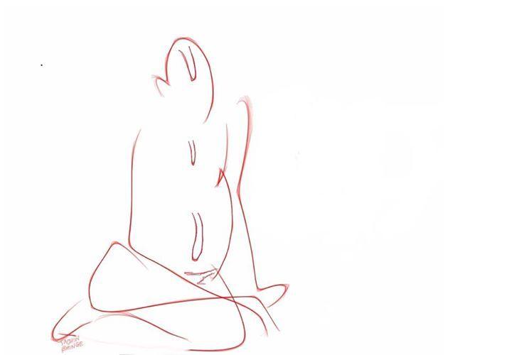 Digital Sketch of Swami Samarth.